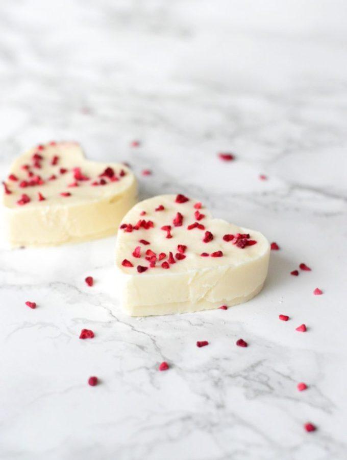 Valentines yogurt hearts