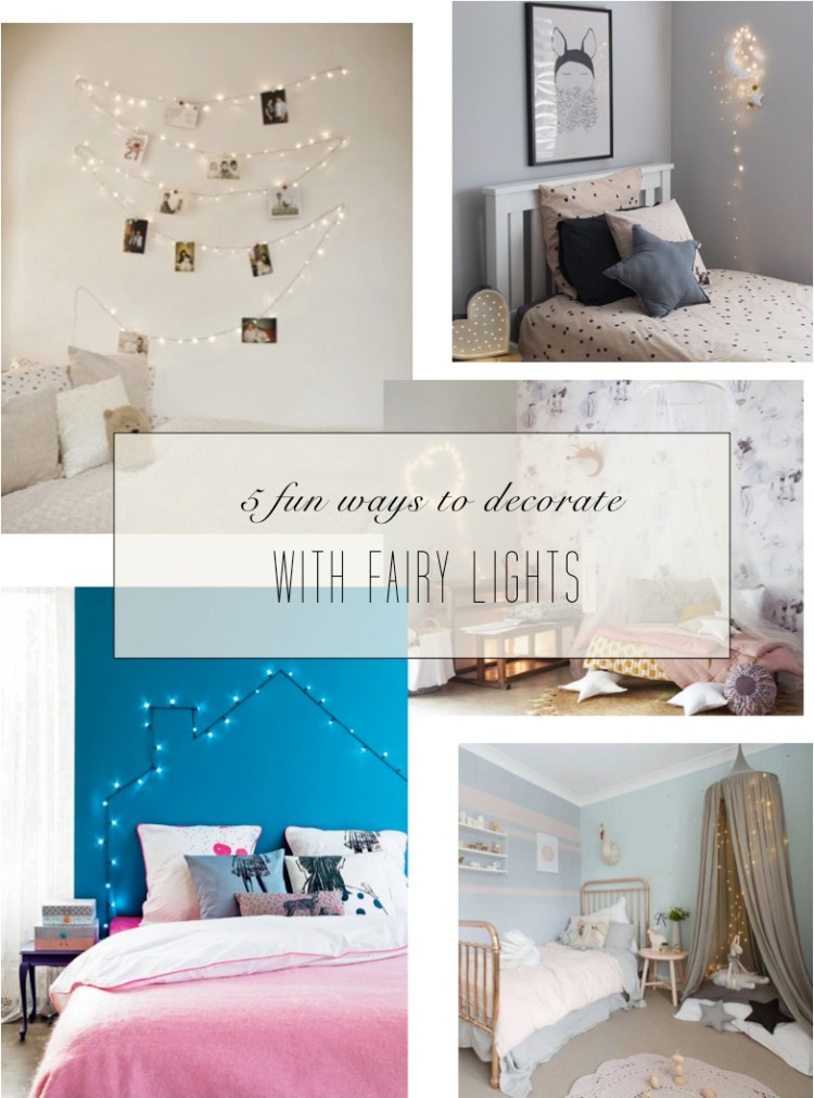how to decorate with fairy lights bedroom
