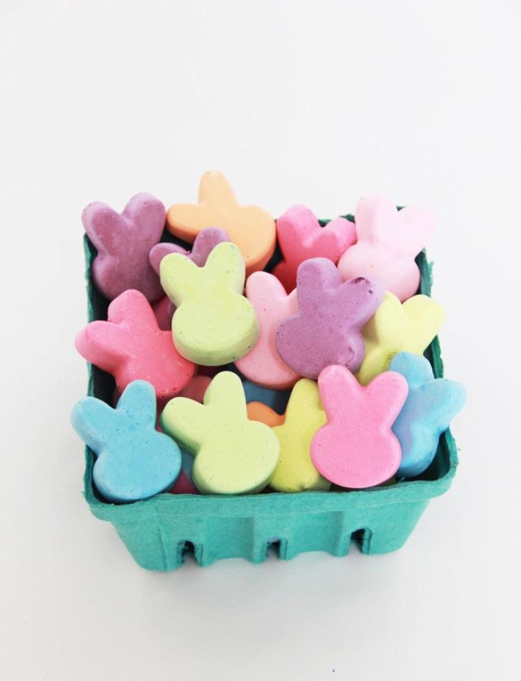 easter bunny crafts diy chalk