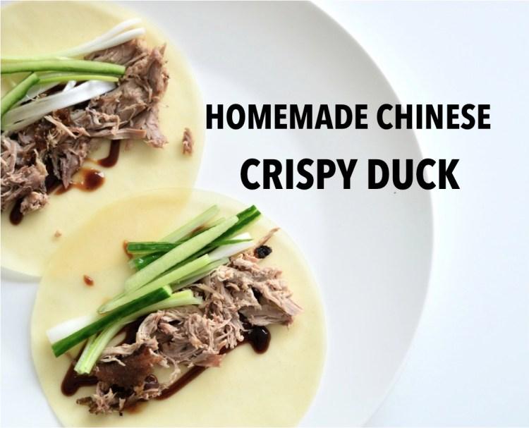 homemade Chinese crispy duck
