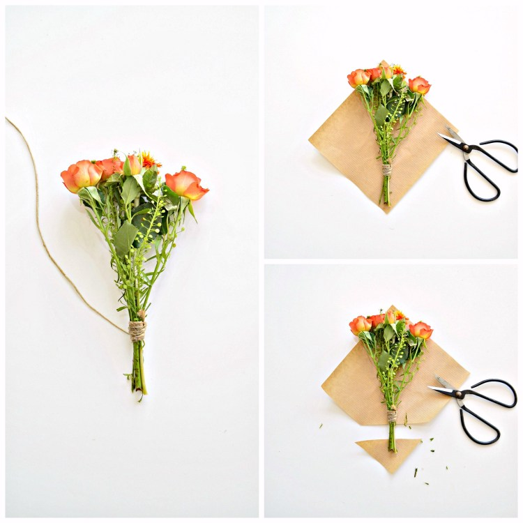 how to wrap a mini bouquet