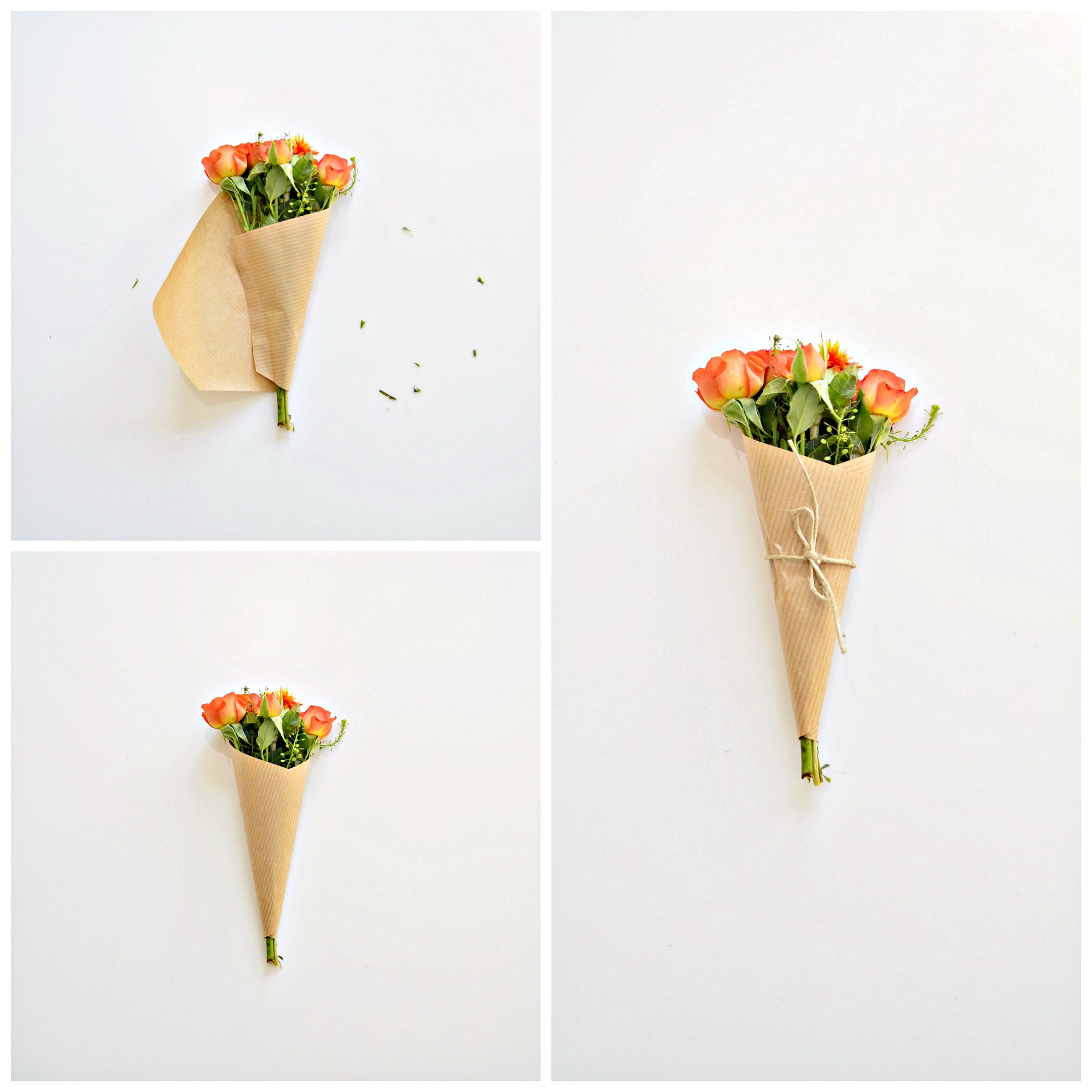 Make someone smile: How to wrap mini bouquets (to gift) - DIY home ...