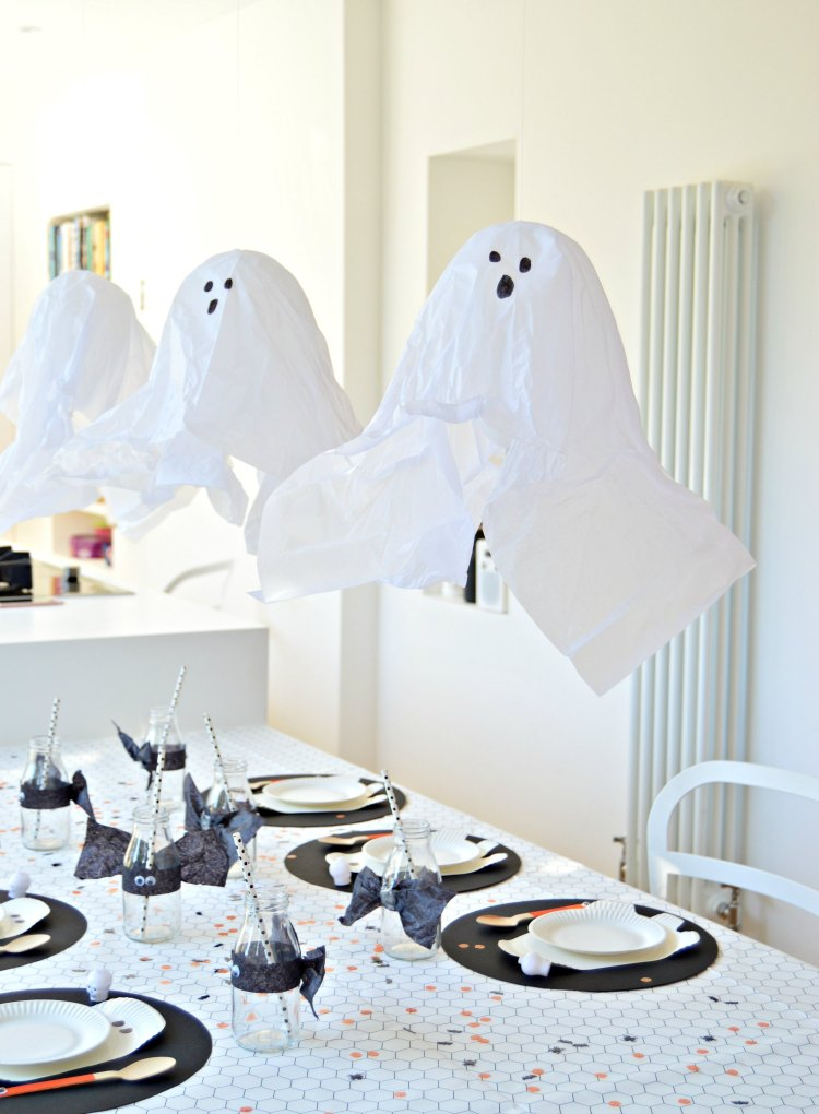 how to make halloween ghost balloons
