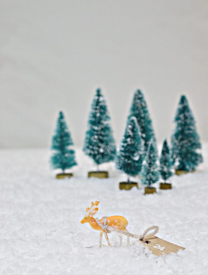 Dashing through the snow: Reindeer advent calendar DIY