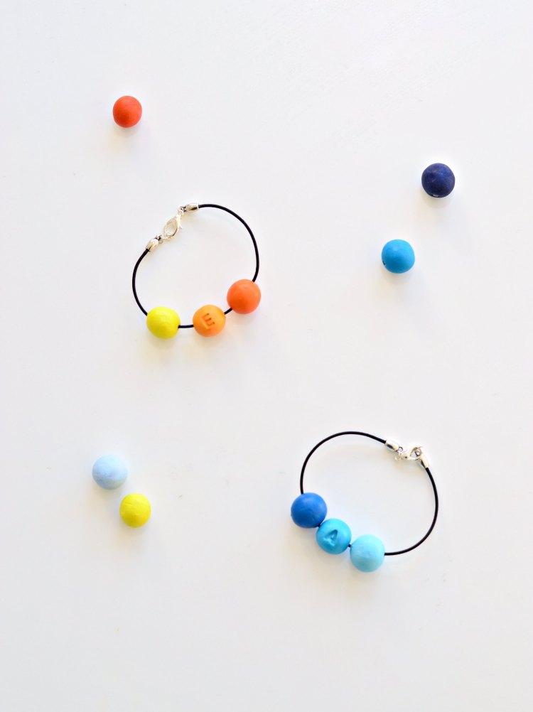 DIY personalised bracelets