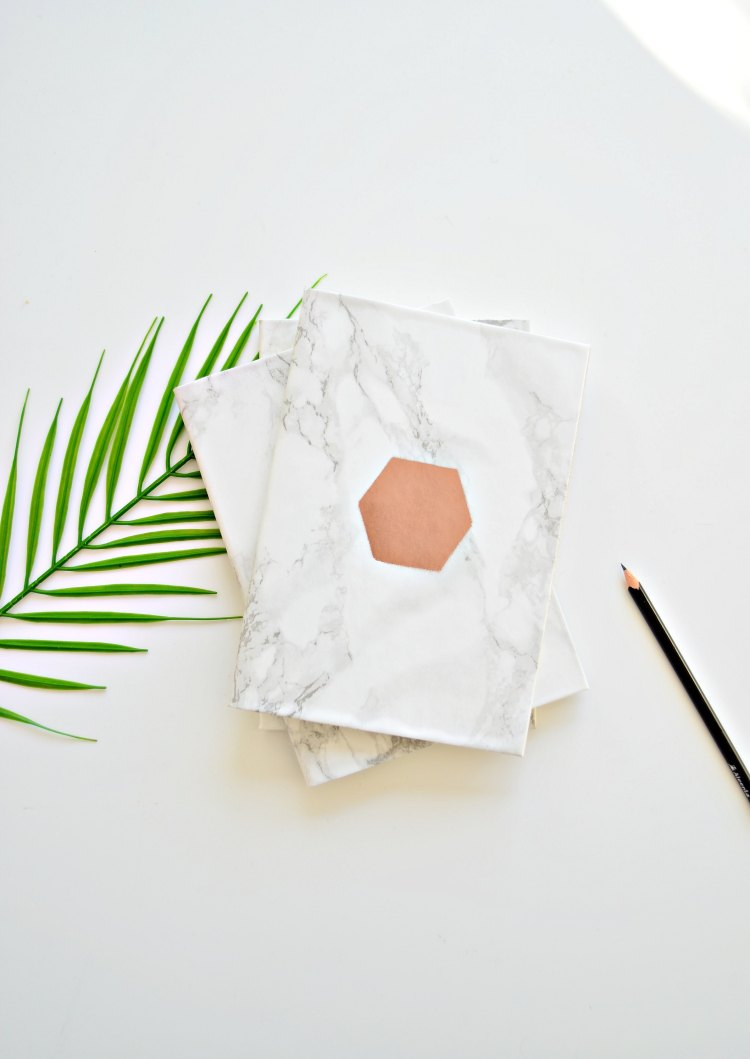 marble notebooks DIY