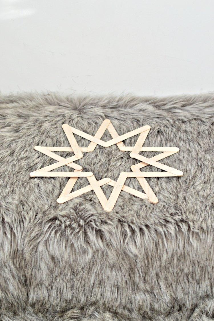 DIY wooden stars christmas decorations