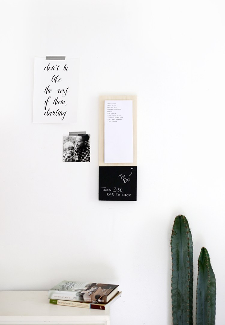 DIY wall planner home office