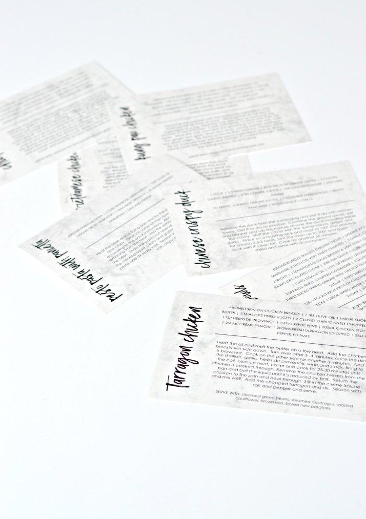 recipe cards ideas