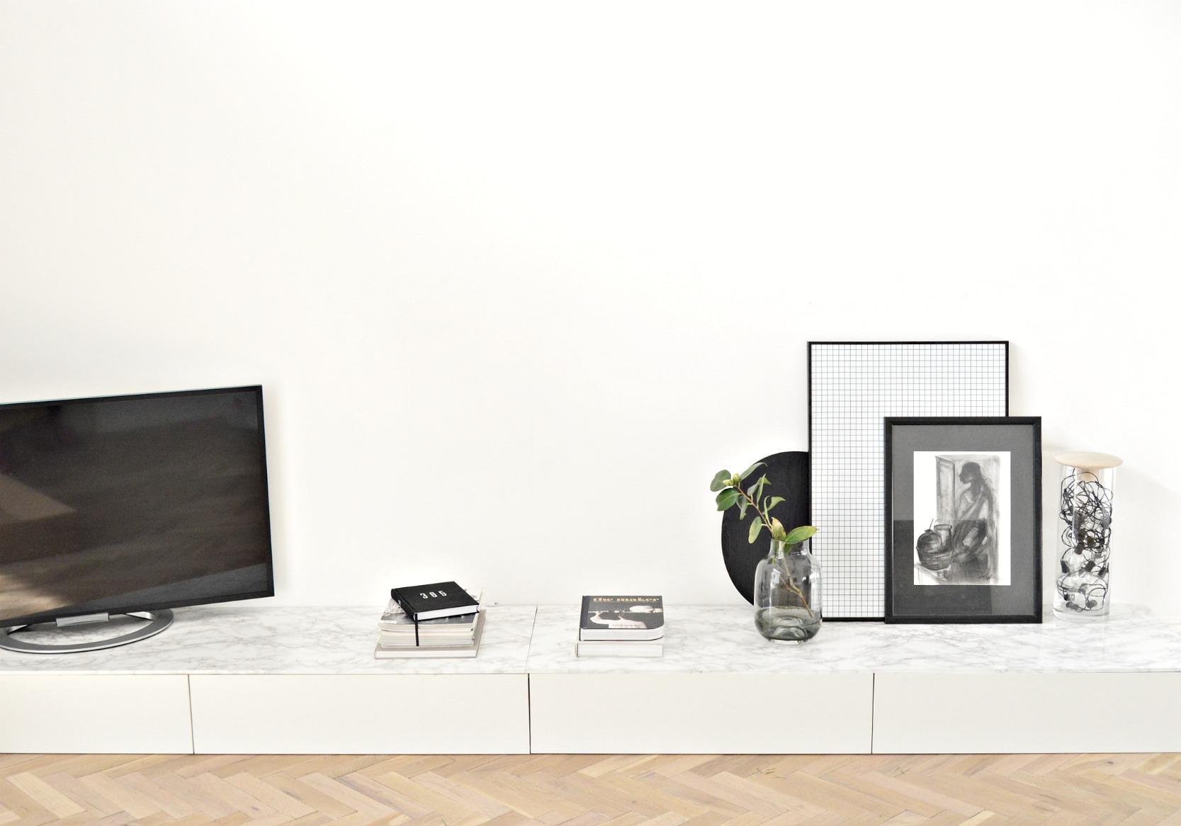 Ikea cabinet hack: Minimal living room TV & storage unit - DIY
