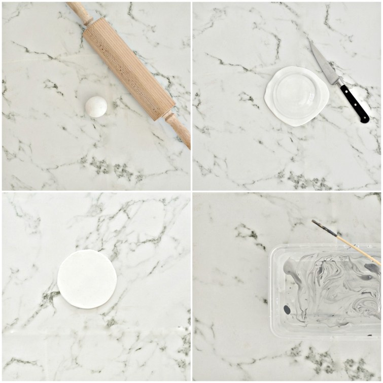 how to make faux marble coasters
