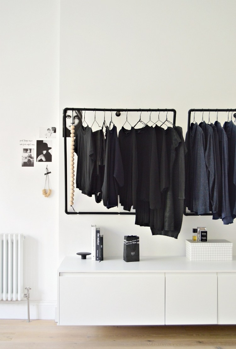 A Minimal Open Wardrobe Diy For Your Bedroom Diy Home