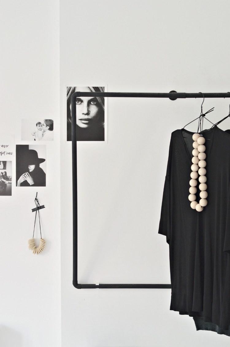 minimal open wardrobe for bedroom