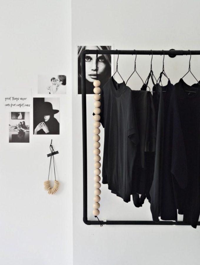 open bedroom wardrobe diy