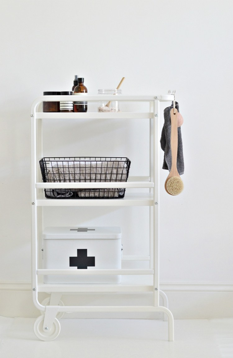 ikea bathroom storage cart hack
