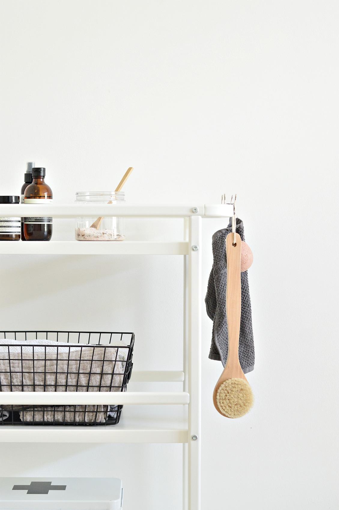 Cart it: A small bathroom storage idea for under £20 - DIY home ...