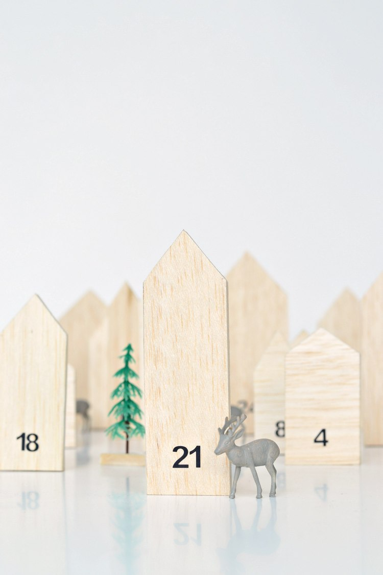 DIY wooden advent calendar