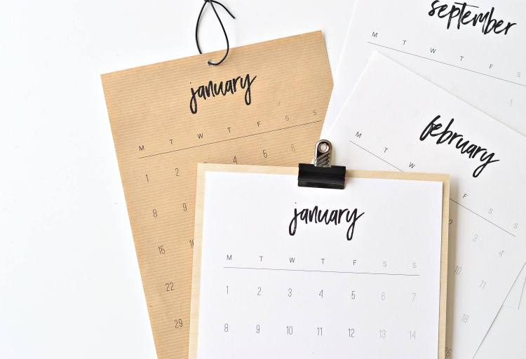 printable 2018 monthly calendar