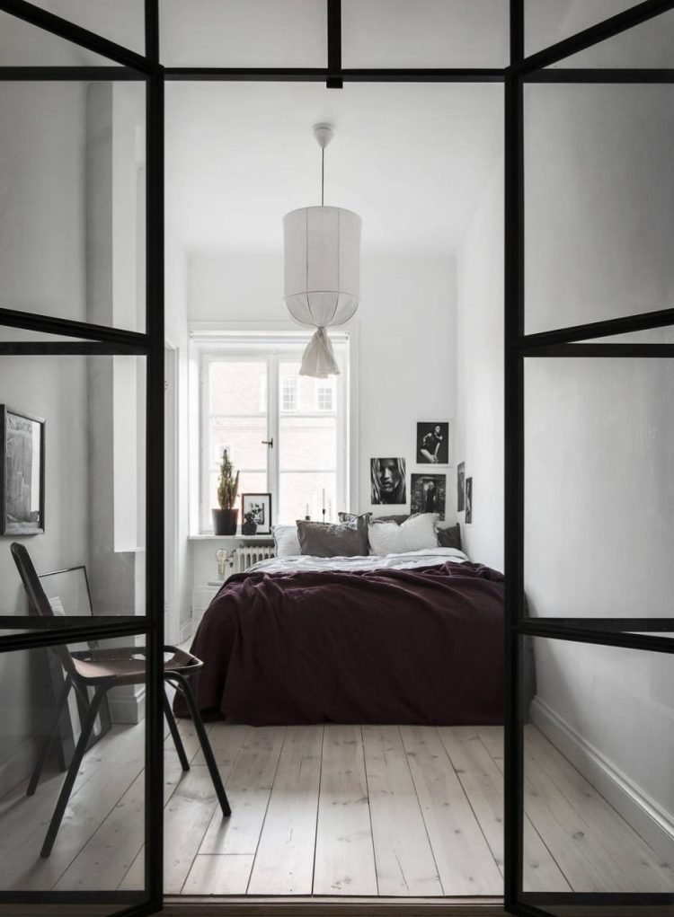 tips for minimal scandinavian style bedroom