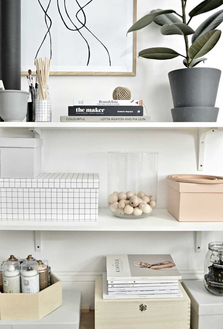 home office shelf organization