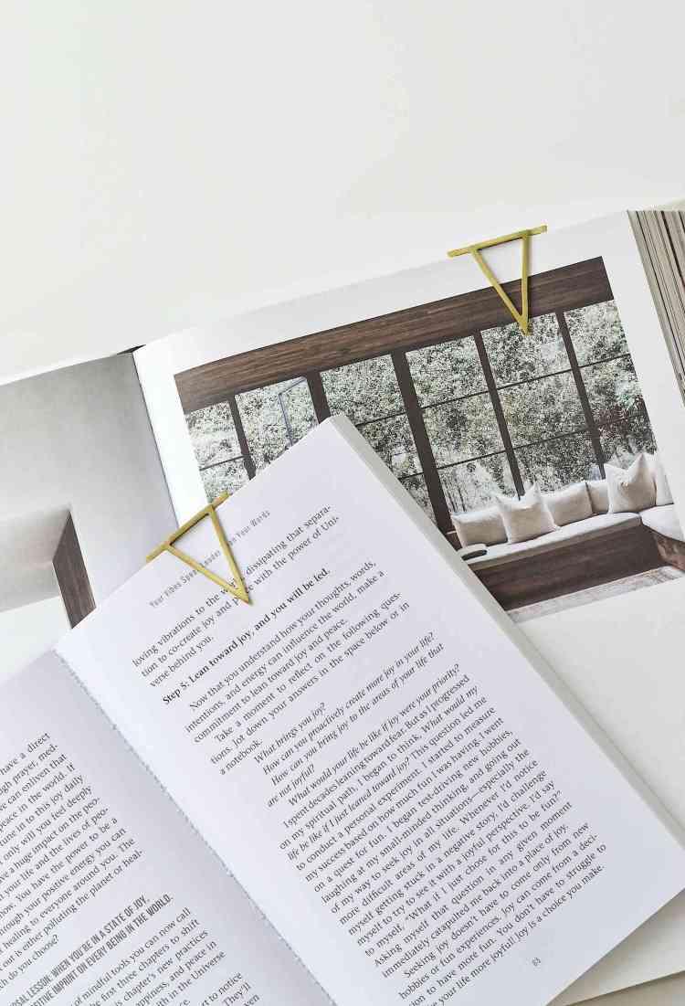 modern brass bookmarks diy