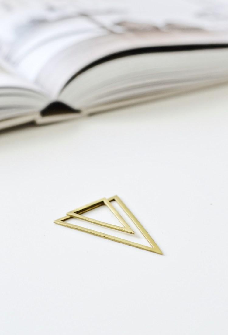 brass clip bookmarks diy