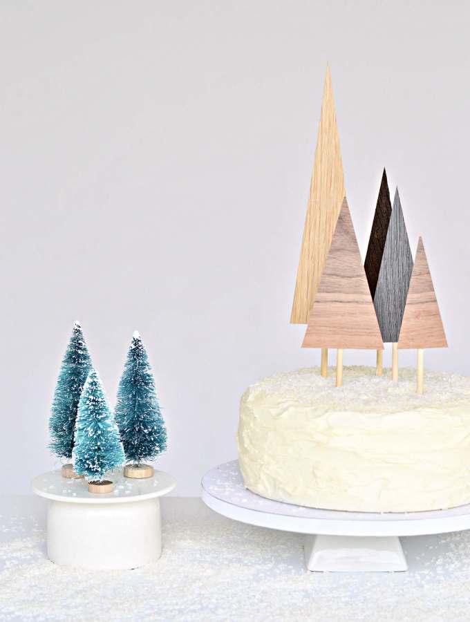 Easy peasy diy Christmas tree cake toppers