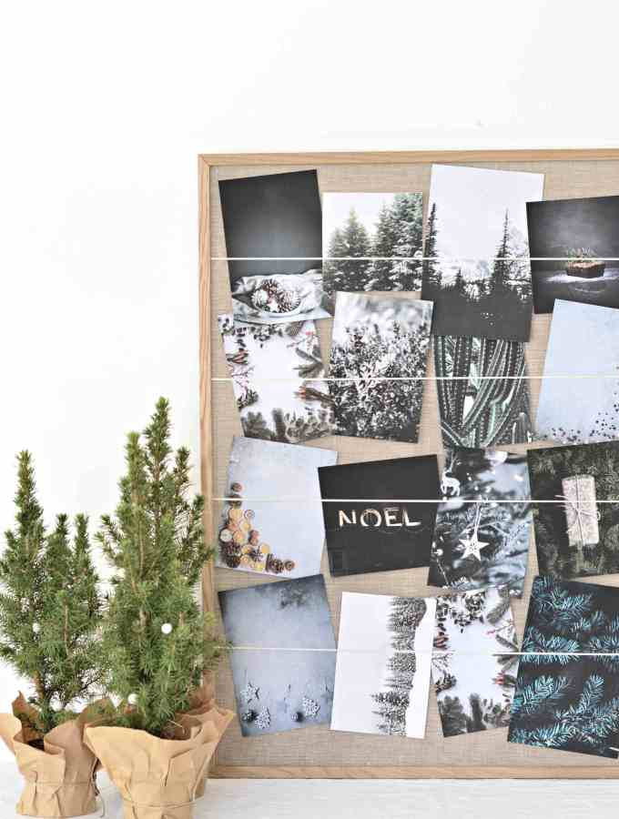 diy Christmas card holder