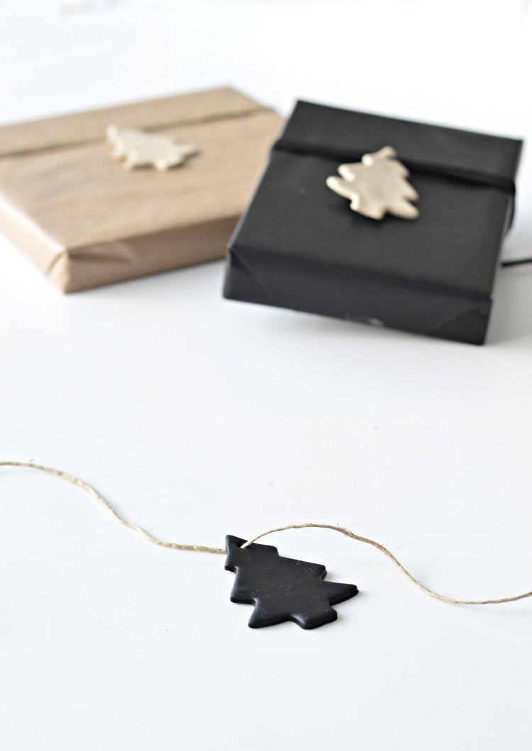 diy clay Christmas gift tags