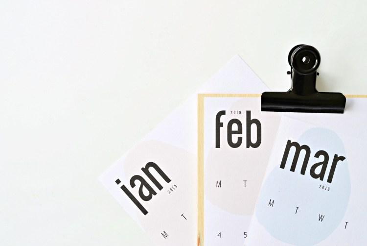 printable 2019 calendar by month