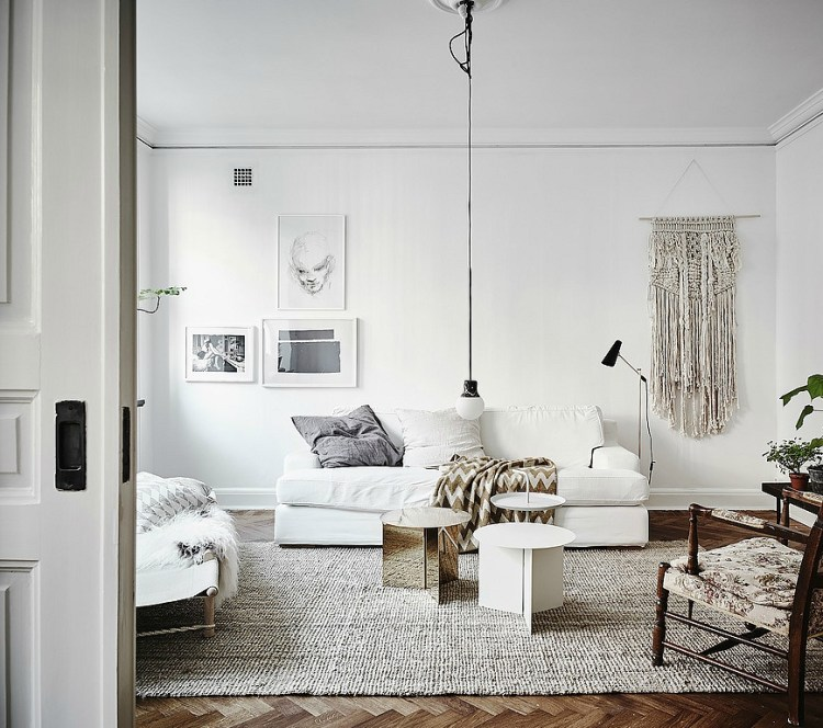how to hang art off centre
