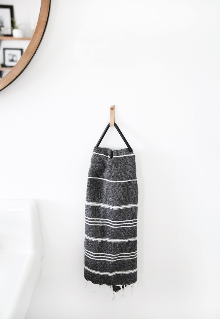 modern towel holder diy