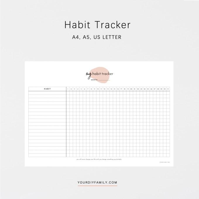 habit tracker PDF download