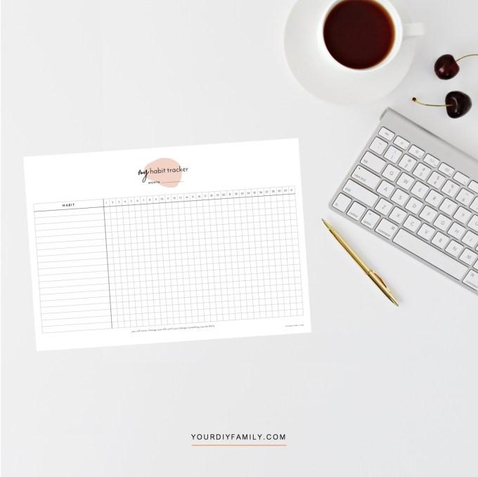 printable habit tracker
