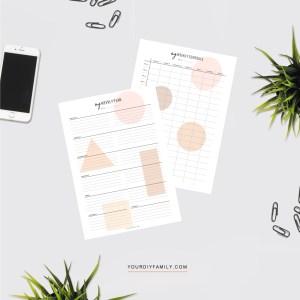 minimalist weekly planner printable