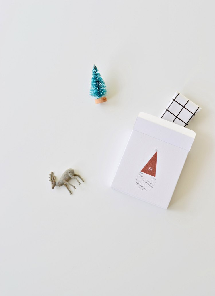 advent calendar printable santa