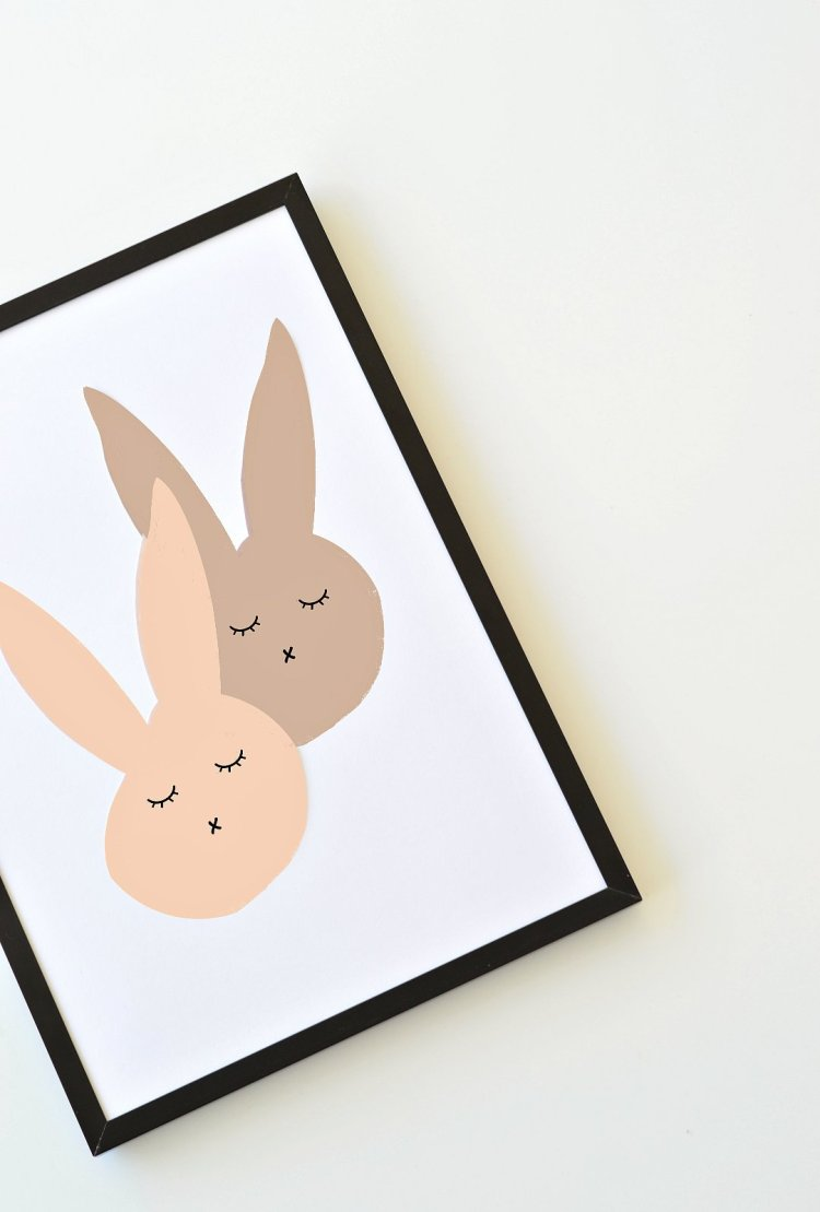 bunny art printable