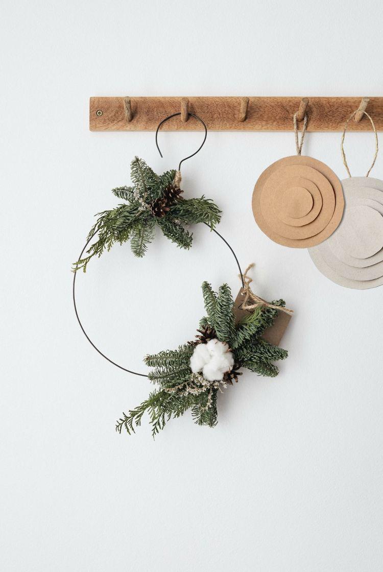 DIY paper Christmas ornaments easy