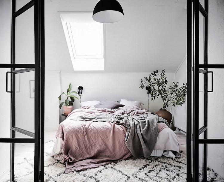 bedroom with natural light