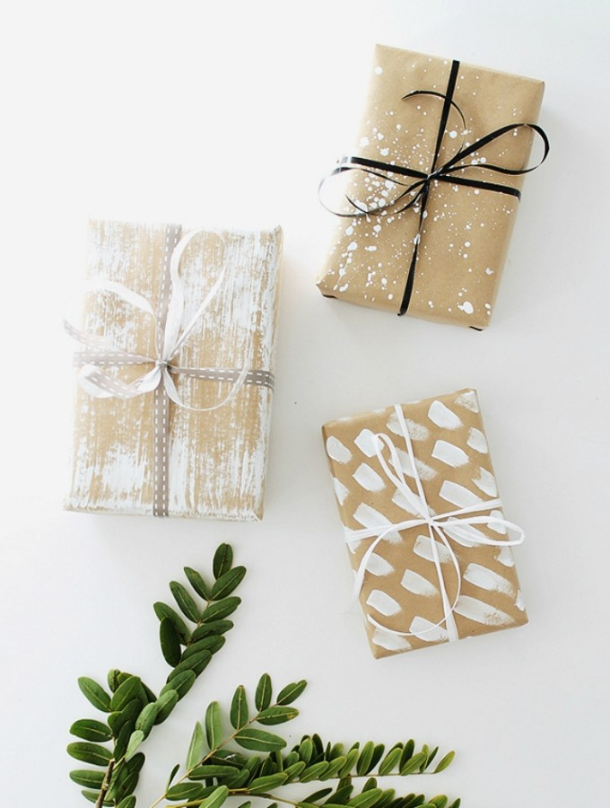 9 kraft paper Christmas wrapping ideas