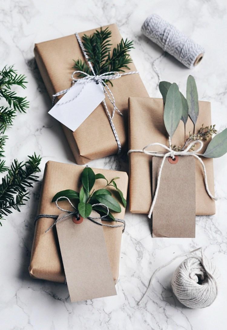 scandinavian christmas gift wrapping