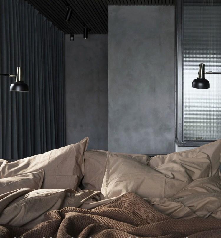 dark bedroom colour schemes