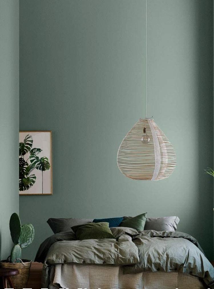 dark green bedroom