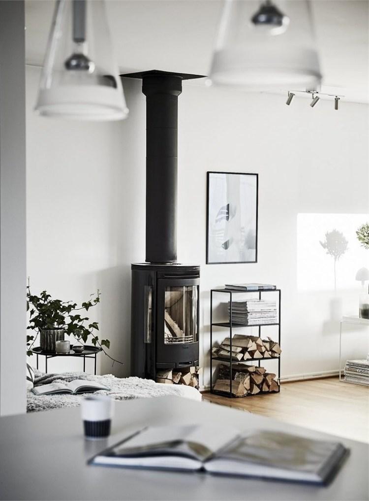 Scandinavian style fireplace ideas