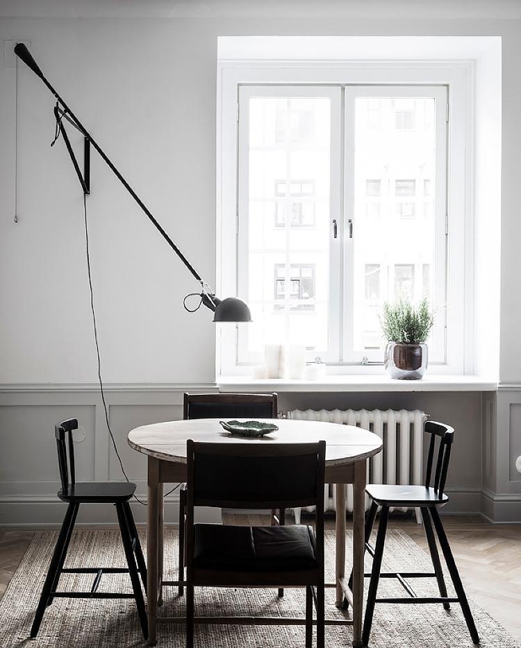 over dining table light scandinavian