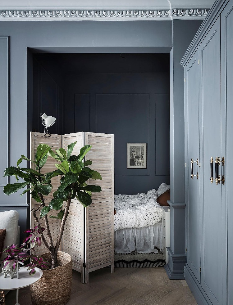 cool blue grey neutral walls