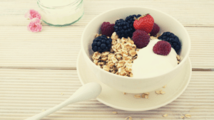 image of a bowl of yogurt and berries