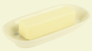 a dish of butter