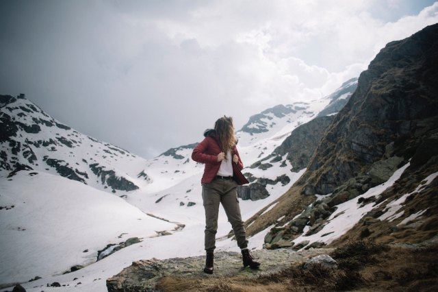 woman on mountain