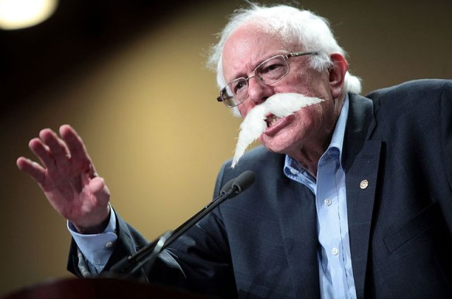 Bernie Sanders Sprouts Huge Mustache During